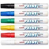 Uni-Paint PX-20 Oil-Based Paint Marker, Medium Point, Assorted Colors, 6-Pack (63630)
