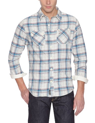Hilfiger Denim Men's 1957816342 Casual Shirt Multicoloured (003 Egret/ Multi) 52