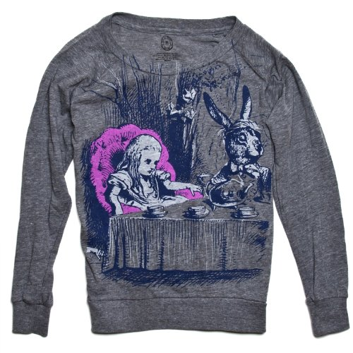 """Alice in Wonderland"" Women's Raglan Literary Pullover by Out Of Print Clothing"