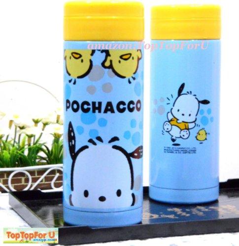 Sanrio Pochacco Dog Stainless Steel Vacuum Flask Thermos Mug Coffee Tea Cup 10.5 Oz Keep Warm / Cold 12Hrs