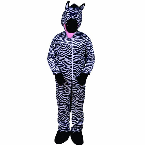 Dress Up America Striped Zebra, Black/White, One Size