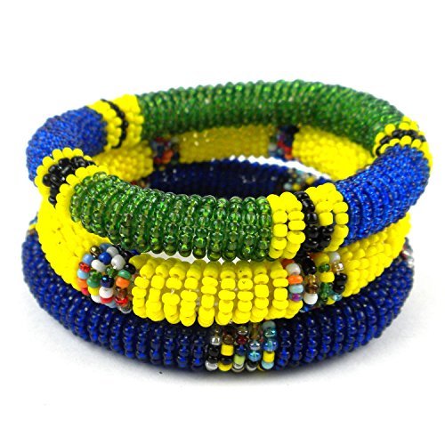 fair-trade-jewelry-maasai-bangle-bracelets-set-of-3-bold-blue-yellow-and-green