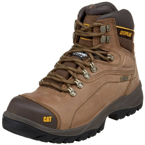 Caterpillar Men's Diagnostic Hi Cut Cap Soft Toe Waterproof Boot,Dark Beige,11 W US