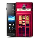 Head Case Designs Red Telephone Booth Best of London Hard Back Case Cover for Sony Xperia sola MT27i