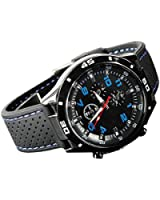Sanwood Men's Racer Pilot Aviator Army Style Silicone Wrist Watch