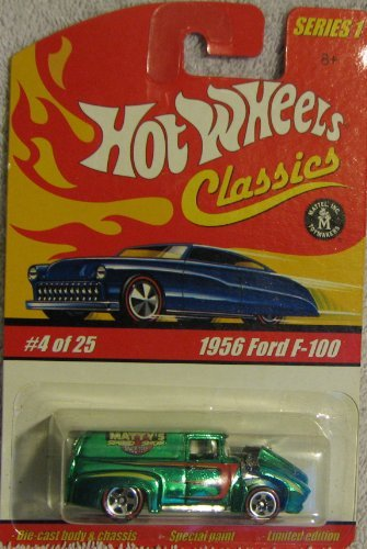 Hot Wheels Classics Series 1 #4 of 25 1956 Ford F-100 GREEN 1:64 Scale