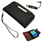 Black Wallet PU Leather case Card Holder Flip Case Cover for Samsung i9300 Galaxy S3 III