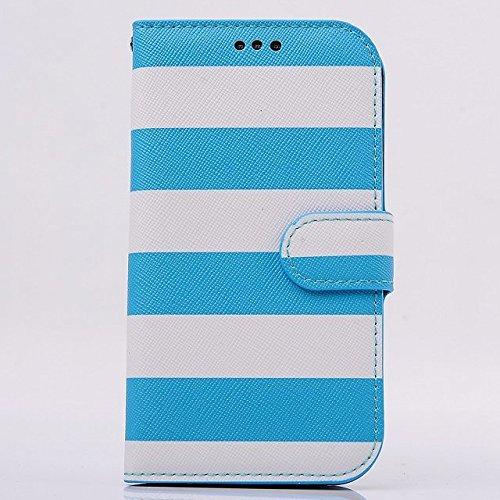 instinct [全8色] Samsung Galaxy S IV S4 SC-04E I9500専用PUレザーケース ギャラクシーS IV対応 スマホーカバー  横縞柄 レインボー 横開きタイプ フリップ  手帳型  カードホルダー+スタンド仕様 カラー  PU leather flip case for Galaxy S4 I9500