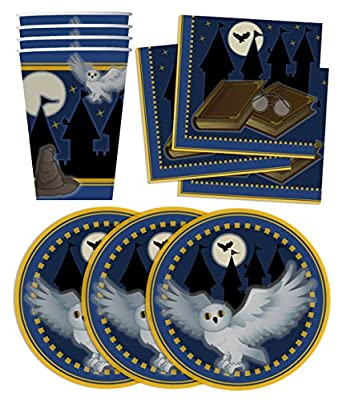 Wizard Castle Birthday Party Supplies Set Plates Napkins Cups Tableware Kit for 16