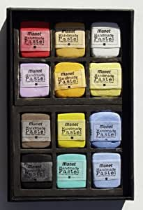 Manet Handmade Rect. Soft Pastels Block 40x34mm Assorted Colors Set/12 In Car...