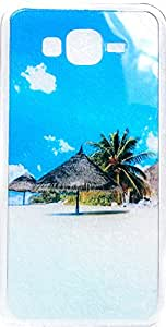 Purple Eyes Scenery Silicon Back Case for Samsung Galaxy J5 Beach Hut