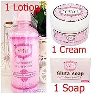 YURI LOTION + CREAM + SOAP WHITENING SKIN HEALTHY BODY GINSENG