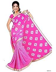 Vatsal Silk Mills Half & Half Printed Saree With Border
