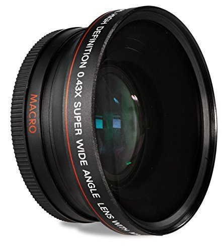 HDStars 58MM 0.43x Wide Angle Conversion Lens with Macro Close-Up Attachment for Canon Digital SLR Cameras