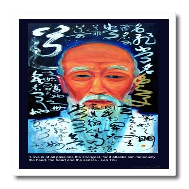 ht_19871_3 Rick London Famous Love Quote Gifts - Lao Tzu Love is of all passions the strongest for it attacks as one the head the heart n the senses - Iron on Heat Transfers - 10x10 Iron on Heat Transfer for White Material