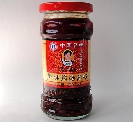 老干媽 風味鶏油辣椒/ガラス瓶【具入りラー油、辣油】