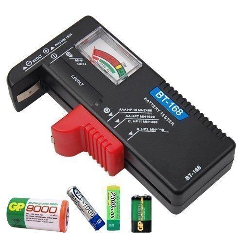 Accessotech Universel Capacité De La Batterie Testeur Pour 9V 1.5V AA AAA C D PP3 Tout Bouton Cellule