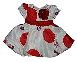 Wise Guys Party Wear Designer Frock for Baby Girls with Bow (09 to 12 Months) FROCK2