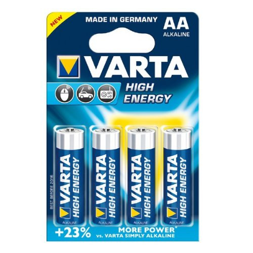 Varta piles aA high energy - 4906-4er sous blister