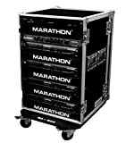 Marathon Flight Road Case MA-16Uad21W 16U Amplifier Deluxe Case - 21-Inch Body Depth With Wheels