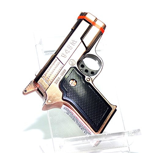 G1 Novelty Pistol Gun (Not Real) Copper Color Dual Jet Flames Pocket Torch Lighter - New Unboxed