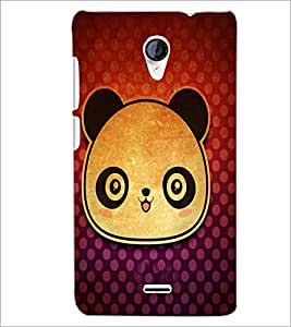 PrintDhaba Panda Face D-3417 Back Case Cover for MICROMAX A106 UNITE 2 (Multi-Coloured)
