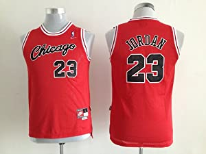 Michael Jordan NBA Chicago Bulls #23 Red Basketball Youth Jersey (Small)