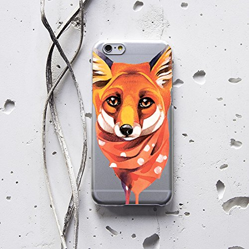 WolfCase Phone Plastic Silicone Case Transparent Flexible Cover for LG Xiaomi Motorola Blackberry Huawei Meizu Asus, Fox, 148 (Cas Blackberry Z10 compare prices)