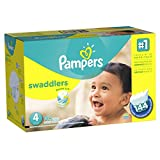 Pampers Swaddlers Diapers  Economy Pack Plus, Size 4,  (144 Count) (Packaging May Vary)