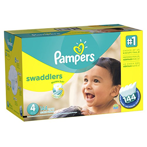 Pampers Swaddlers Diapers  Economy Pack Plus, Size 4 (144 Count) (Packaging May Vary)