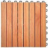 FSC-Certified Eucalyptus/ Anti-Slip 8 slat/ Deck Tile/ Box of 10 Tiles (Natural Wood) (1
