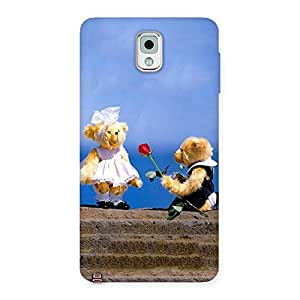Gorgeous Proposal Teddy Multicolor Back Case Cover for Galaxy Note 3