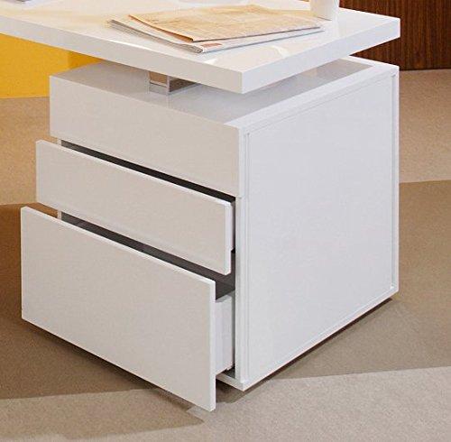salesfever schreibtisch inkl container 3 schubladen wei. Black Bedroom Furniture Sets. Home Design Ideas