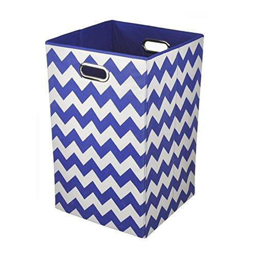 Modern-Littles-Bold-Chevron-Folding-Laundry-Basket