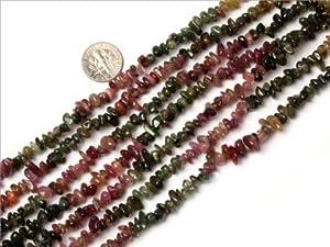 7-8mm gemstone tourmaline chips beads strand 15