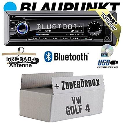 VW Golf 4IV-Blaupunkt Stockholm 230DAB-DAB +/CD/MP3/USB Kit de montage autoradio avec Bluetooth -