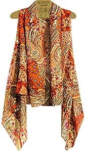 Amazon.com: Accents by Lavello Sheer Designer Vest, Brown