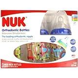 NUK Cars Orthodontic Slow Flow Bottle 3pk 5oz (150 ml), Newborn+