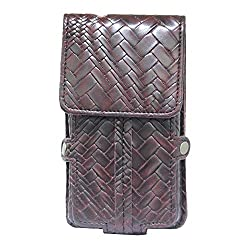 Jo Jo A6 Bali Series Leather Pouch Holster Case For Byond B65 Wine Red