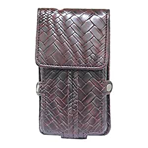 Jo Jo A6 Bali Series Leather Pouch Holster Case For Wickedleak Wammy Neo Youth Wine Red