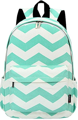 Casual Style Lightweight Canvas Cute Wave Stripe Printed Notebook Computer 15