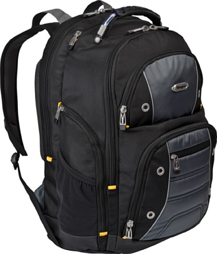 Targus Bum II Backpack Designed for 17-Inch Laptop TSB239US (Black/Gray)