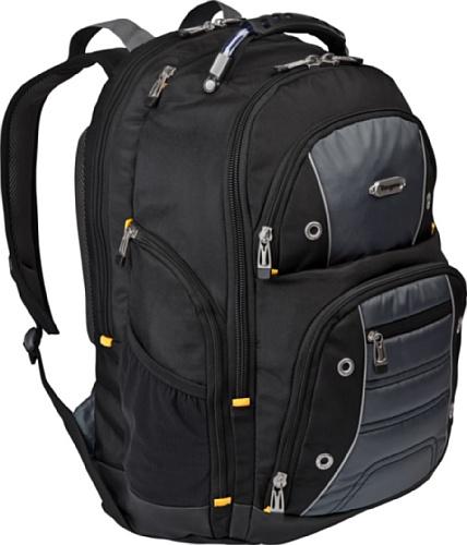 Targus Drifter II Backpack Designed for 17-Inch Laptop TSB239US (Black/Gray)