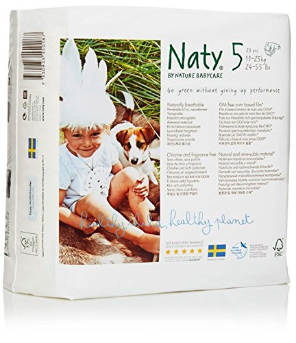 Nature Babycare Eco-Diapers, Size 5, 23 count (Pack of 4) (Chlorine Free Diapers 5 compare prices)