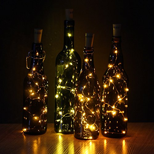 JOJOO Set Of 6 Warm White Wine Bottle Cork Lights 32inch