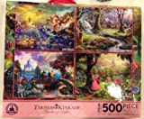 Disney Thomas Kinkade Set of 4 500 Piece...
