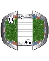 Folat Set d'invitation de 16 pièces « Stade de football » pour fêtes et anniversaires d'enfants