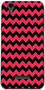 Snoogg Black And Pink Waves 2568 Designer Protective Back Case Cover For Micr...