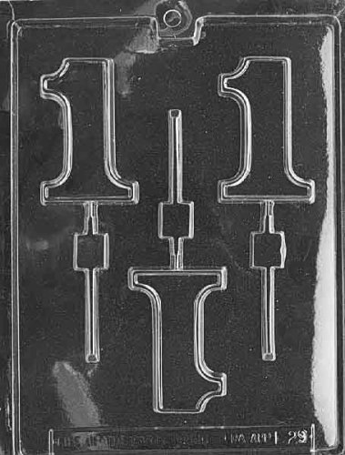 1 LOLLY Letters & Numbers Candy Mold Chocolate