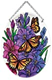 Joan Baker Designs MO237R Monarchs and Gladioluses Suncatcher, 5.25 by 7-Inch